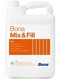 BONA Mix & Fill, 5л. Шпаклёвка для паркета